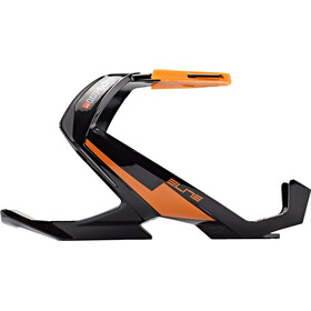 Elite Custom Race Plus Porte-bidon, black glossy/orange graphic